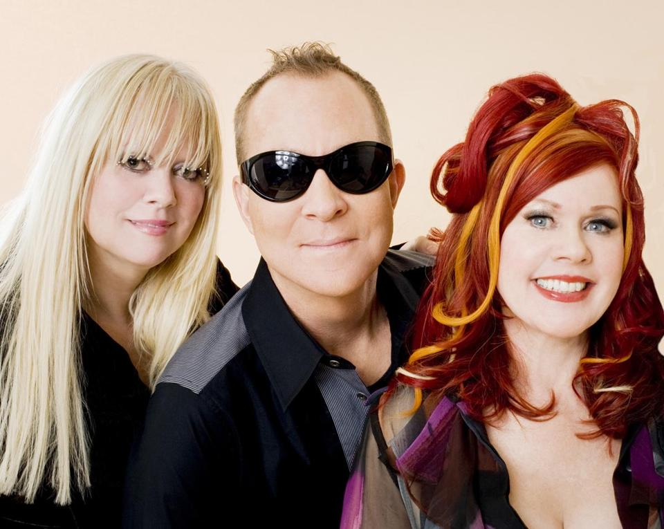 Cindy Wilson (left), Fred Schneider, and Kate Pierson of the B-52s.